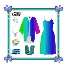 "Yoins Accessories & my ""Crayon Box"" Dress & Kimono by artist4god-rose-santuci-sofranko on Polyvore featuring polyvore, fashion, style and Volatile"