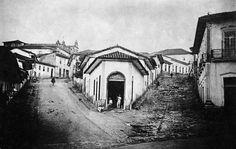 Ladeira do Meio e ladeira de São Francisco, 1862 (atual rua José Bonifácio e rua de São Francisco). (Militão Augusto de Azevedo)