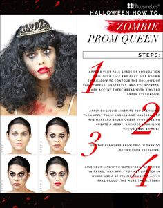 On the blog: Get ghoulish this Halloween with our step-by-step guide for the perfect zombie prom queen look!