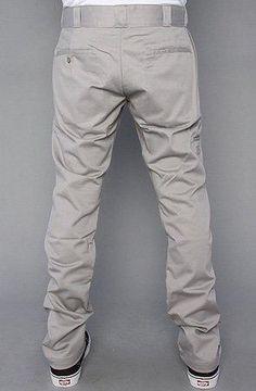 Dickies The Skinny Straight Work Pants in Silver,Pants for Men