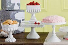 Soportes para tartas blancos