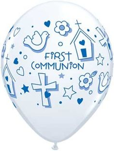 "Single Source Party Supply - 11"" First Communion Boy Latex Balloons, $0.63 (http://www.singlesourcepartyrentals.com/products/11""-First-Communion-Boy.html)"