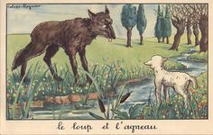 FABLE OF JEAN DE LA FONTAINE.....THE WOLF AND THE LAMB......BING IMAGES.......