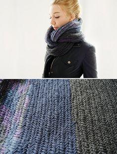 @Jenna Jerome Look who else made it! #knitting #cowl #herringbone