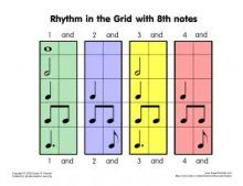 This helps learning dotted quarter notes.