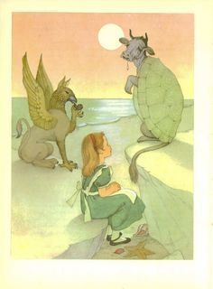 "This illustration by Marjorie Torrey comes from my favourite edition of ""Alice In Wonderland"" by Lewis Carroll, printed in 1957."