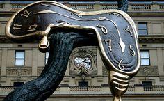 Dali-inspired sculpture.