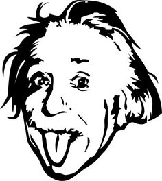 Albert Einstein vinyl wall decal sticker # - ClipArt Best ...