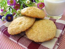 Galettes à la crème sure Cookie Desserts, Cookie Recipes, Cornbread, Mousse, Muffins, Recipies, Lunch, Cookies, Sour Cream
