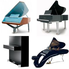 If It's Hip, It's Here: Magnificent Modern Pianos by Designer Peter Maly for Sauter.