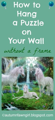 brandi raae how to hang a puzzle on your wall without a frame