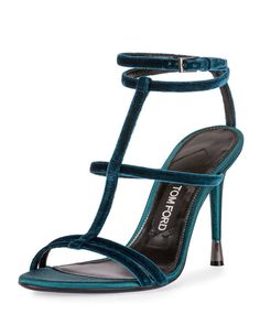 Tom Ford pacific blue velvet cage sandal: http://www.stylemepretty.com/2016/08/31/fall-wedding-fashion-shoe-trends/