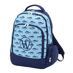 Fishes Backpack - Nautical Backpack - Boy s Monogram Backpack - Personalized  Backpack - Navy Boy s Knapsack - Back to School - Knapsack by ... bf45320365647
