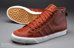 adidas Originals Nizza HI - Mens Select Footwear - St Redwood-St Redwood-White Vapour