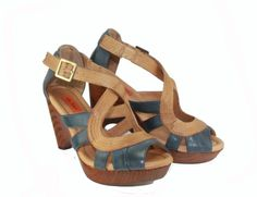 We love this two-toned sandal!     Miz Mooz Petra