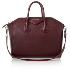 Givenchy Medium Antigona bag in burgundy textured-leather found on Polyvore