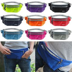 Waterproof Sport Running Belt Bum Waist Pouch Fanny Pack Camping Hiking Zip Bag #Unbranded #FannyWaistPack
