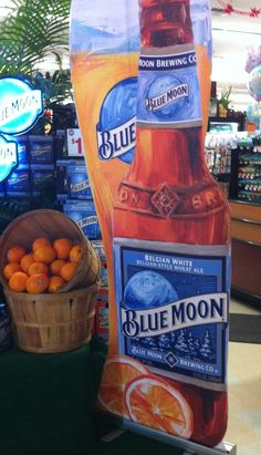 Orange Vodka A Glass Of Blue Moon Beer With An Orange
