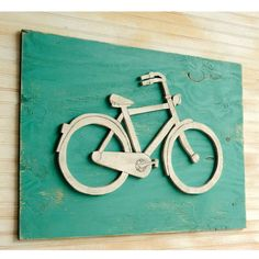 Bicycle Art Wooden Bike Sign Large Bicycle Wall by SlippinSouthern