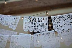 Personalized papel Picado for my wedding