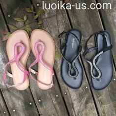 f3995aaf3da Aukusor Women s Wide Width Flat Sandals - Flip Flop Open Toe T-Ankle Strap  Flexible Summer Flat Shoes