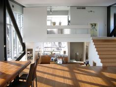 split-level area separation interior design