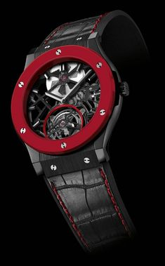 Hublot Debuts Red Ceramic In Classic Fusion Skeleton Tourbillon For Only Watch 2013