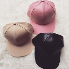 Leather cap- Tan Kylie Jenner inspired cap- only tan & black color are in stock Accessories Hats