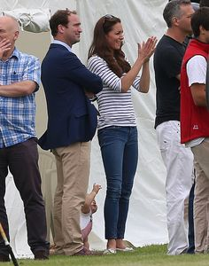 Kate Middleton: Catherine, Duchess of Cambridge and her son Prince George attend the Royal Charity Polo during the Maserati Jerudong Trophy at Cirencester Park Polo Club on June 15, 2014 in Cirencester, England.
