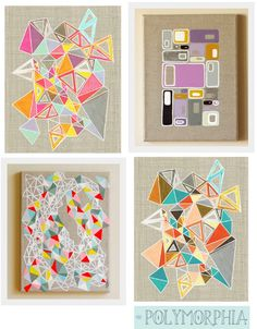 A lovely array of geometric art prints. Like the abstract nature of these, with overlapping and interlocking shapes.