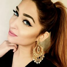 The Gorgeous @nazanasghar seen here in our SUHAIR CHAND EARRINGS now available…