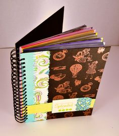Journal from 11-17-12 Handmade Holidays Blog Hop - great tutorial and tips for making it. Thoughts of Scrapbooking