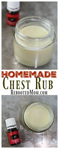 4 easy ingredients to make this wonderful chest rub for yourself or the kids.Combine 4 easy ingredients to make this wonderful chest rub for yourself or the kids. Rc Essential Oil, Belleza Diy, Diy Beauté, Dyi, Rub Recipes, Easy Recipes, Baby Food Jars, Young Living Oils, Chest Rub Young Living