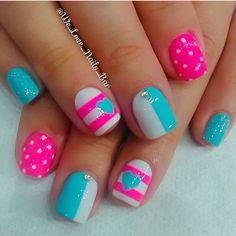 Trendy nails birthday little girls 33 ideas Girls Nail Designs, Nail Art Designs Videos, Toe Nail Designs, Nails Design, Dream Nails, Love Nails, Pretty Nails, Little Girl Nails, Girls Nails