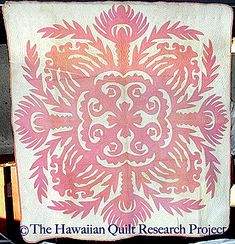not the kind of thing I'm capable of TODAY but maybe later when im old and more wonderful Hand Applique, Applique Patterns, Textile Patterns, Hawaiian Quilt Patterns, Hawaiian Quilts, Aplique Quilts, Hawaii Pattern, Hawaiian Art, Traditional Quilts