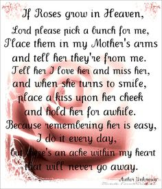 Lovely Quotes For Mom In Heaven