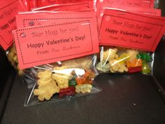 Bear Hugs for you! Valentine's Day gifts for students.