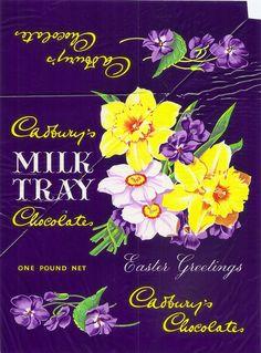 Cadbury's Milk Tray Chocolates - easter overwrap, c1963 by mikeyashworth, via Flickr