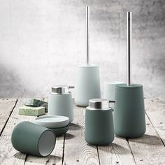 Bathroom Accessory Set - Nova at STORE. Complete bathroom accessory set crafted from porcelain with a soft touch coating. Bathroom Accessories Sets, Home Accessories, Design Shop, Neo Angle Shower, Nova, Complete Bathrooms, Toilet Brush, Bathroom Styling, Bathroom Ideas