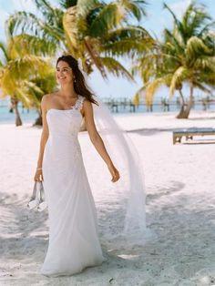 image-beach-wedding-dress-54-gowns-attire-davids-bridal via Walking on Sunshine