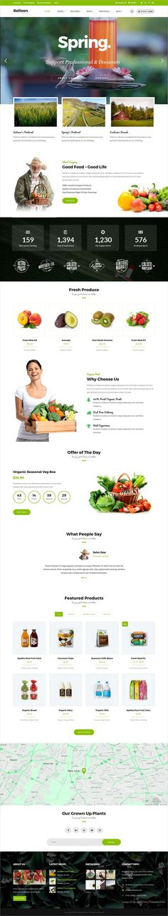 Balloon is a wonderful 3in1 responsive #WordPress theme for #webdev organic #farm #shop and food business eCommerce websites download now➩   https://themeforest.net/item/balloon-organic-farm-food-business-wordpress-themes/19117247?ref=Datasata