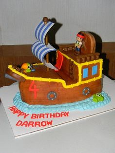 Jake and the Neverland Pirates Ship cake, via Flickr. littlecakesontheprairie.com