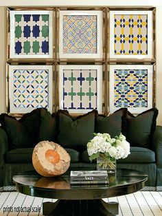 I am liking these prints for a pop of color...I am thinking above my bed?