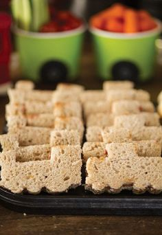 Train sandwiches, just use a cookie cutter to make these cute PB&Js!