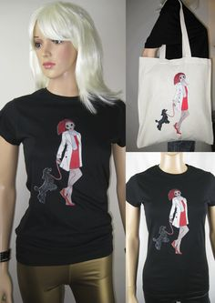 ALICE BRANDS unique Dog Breed designs on fabulous quality women's Tops, T-shirts and now on Tote bags too. Alice with Poodle shown. etsy.com/uk/shop/AliceBrands … See our full range at www.alicebrands.co.uk