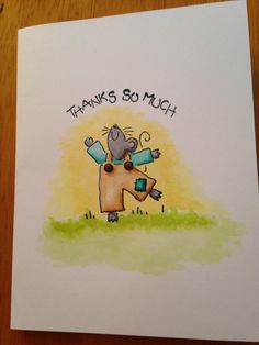 Simple Mouse Thank You by Jennifrann - Cards and Paper Crafts at Splitcoaststampers