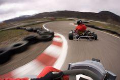 I love go kart racing!