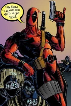 Deadpool Art Print by Iggycrypt.  Brilliant!  You can buy this print!!  I soooo want this!!  He's going to be at Wizard World Columbus and Rhode Island Comic Con!