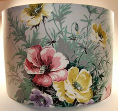 Vintage lampshade #floral #interior #lamp