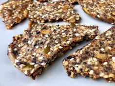 Low Carb Everything Seed Crackers